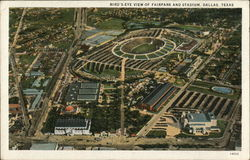Bird's-Eye View of Fairpark and Stadium