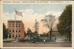 Soldiers' Monument, Telephone Building and Old Quaker Church
