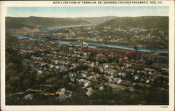 Bird's Eye View of Franklin, PA, Showing Chicago Pneumatic Tool Co.