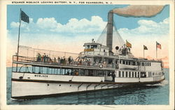 Steamer Mobjack Leaving Battery N.Y. for Keansburg, N.J.