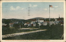 Birds-eye View of Washington, N.J., Round Top Mountain in Distance