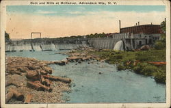 Dam and Mills at McKeever, Adirondack Mts., N.Y.