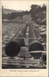 First Pipe Laid at Ashokan Reservoir, 1907