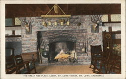 The Great Fire Place, Lobby, Mt. Lowe Tavern