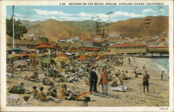 Bathers on the Beach, Avalon, Catalina Island