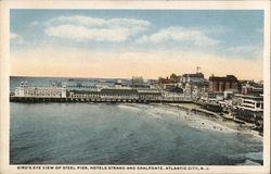Bird's-eye View of Steel Pier, Hotel Strand and Chalfonte