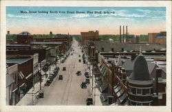 Main Street Looking South from Court House Postcard