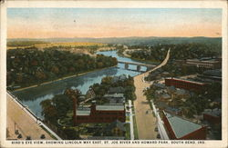 Bird's Eye View, Showing Lincoln Way East, St. Joe River and Howard Park