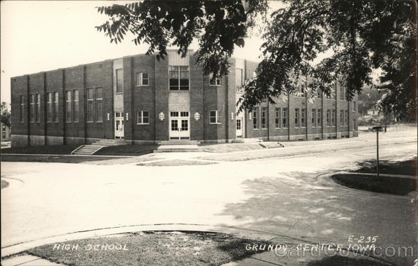 High School Grundy Center Iowa