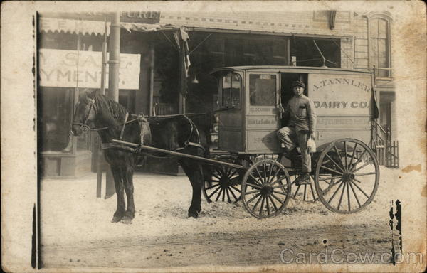 Milkman & Delivery Wagon A. Tannler Dairy Co. Oregon?