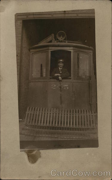 Engineer in Window of Locomotive Men