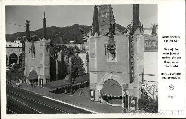 Grauman's Chinese Theatre Hollywood California