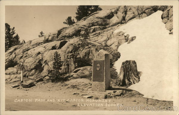 Carson Pass and Kit Carson Monument Kirkwood California