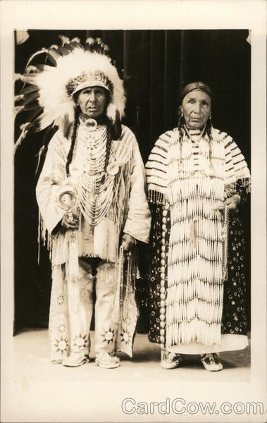 Indian Chief and Squaw Native Americana