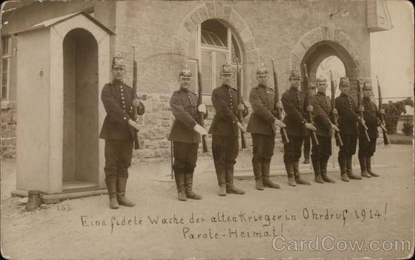 Eine Fidele Waeche der Altenkrieger in Ohrdruf 1914
