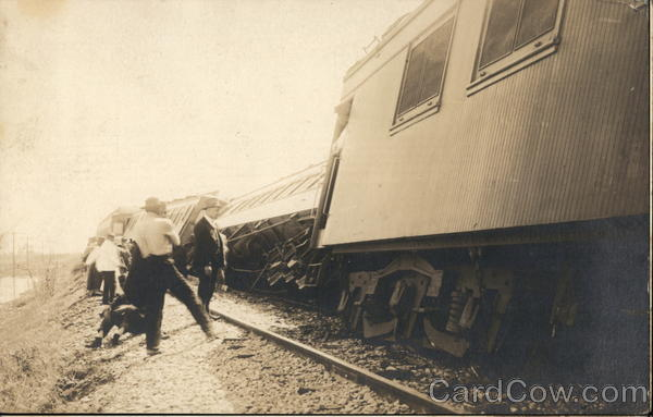 Train Derailment on the Westpac 1917 Marysville California
