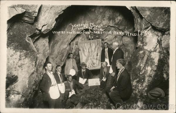 Masonic Cave Where The First Five Meeting Were Held 1854 Volcano California