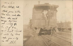 Workers Posing on Caboose in Rail Yard, Pine Bluff, Arkansas