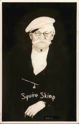 Squire Skimp-Older Gentleman with Cap and Moustache