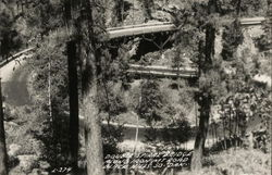 Double Spiral Bridge Along Iron Mountain Road