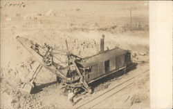 Excavating Alongside Tracks Steam Shovel
