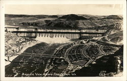 Birdseye View Grand Coulee Dam