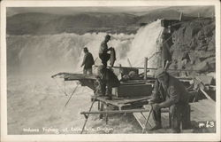 Indians Fishing at Celilo Falls