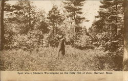 Spot Where Shakers Worshipped on the Holy Hill of Zion