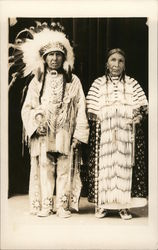 Indian Chief and Squaw