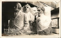 Gutzon Borglum's Model of Mt. Rushmore Memorial - Washington, Jefferson, Roosevelt & Lincln