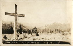 Where Donner Party Perished - 1848-49, Cross Near Trees
