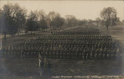 Cadet Regiment of University of Illinois Postcard