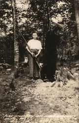 Bear Killed by Mrs. Elmer Armstrong