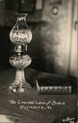 Coolidge Lamp and Bible Postcard