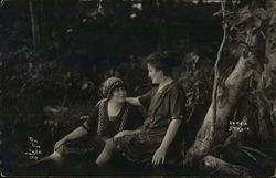 Two Women Seated Together - Paw Paw Lake