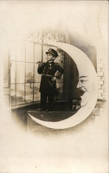 Portrait of Dwarf in Uniform & Paper Moon