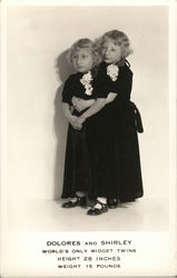 Dolores and Shirley, World's Only Midget Twins, Height 28 Inches, Weight 15 Pounds