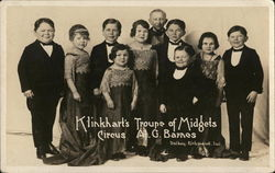 Klinkhart's Circus Troupe of Midgets, A. G. Barnes