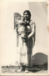 Crow Indian Mother and Baby