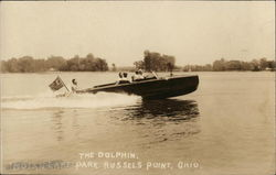 The Dolphin - Motor Boat in Water Postcard
