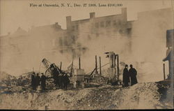 Fire at Oneonta, N. Y., Dec. 27, 1908. Loss $100,000