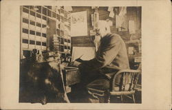 Bearded Gentleman Seated at Desk - Uncle Sam Jenkins