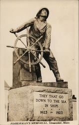 "Fisherman's Memorial: ""They That go Down to the Sea in Ships 1623 - 1923"""