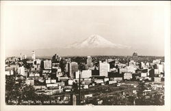 View of City and Mount Rainier