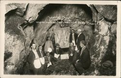 """Masonic Cave"" Where The First Five Meeting Were Held 1854"