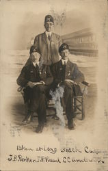 Three Men in Shriners Hats: J. B. Parker, J. P. Reead, C. C. Andersen
