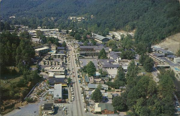Aerial View of Town Gatlinburg Tennessee