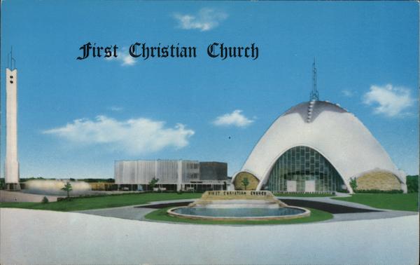 first christian church oklahoma city  ok postcard