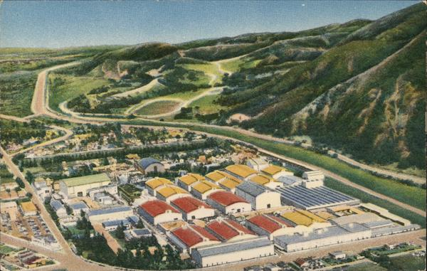 Home of Warner Brothers Pictures, Inc. - Aerial View Burbank California