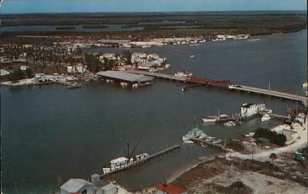 Aerial View over Matan-Zas Pass Fort Myers Beach Florida